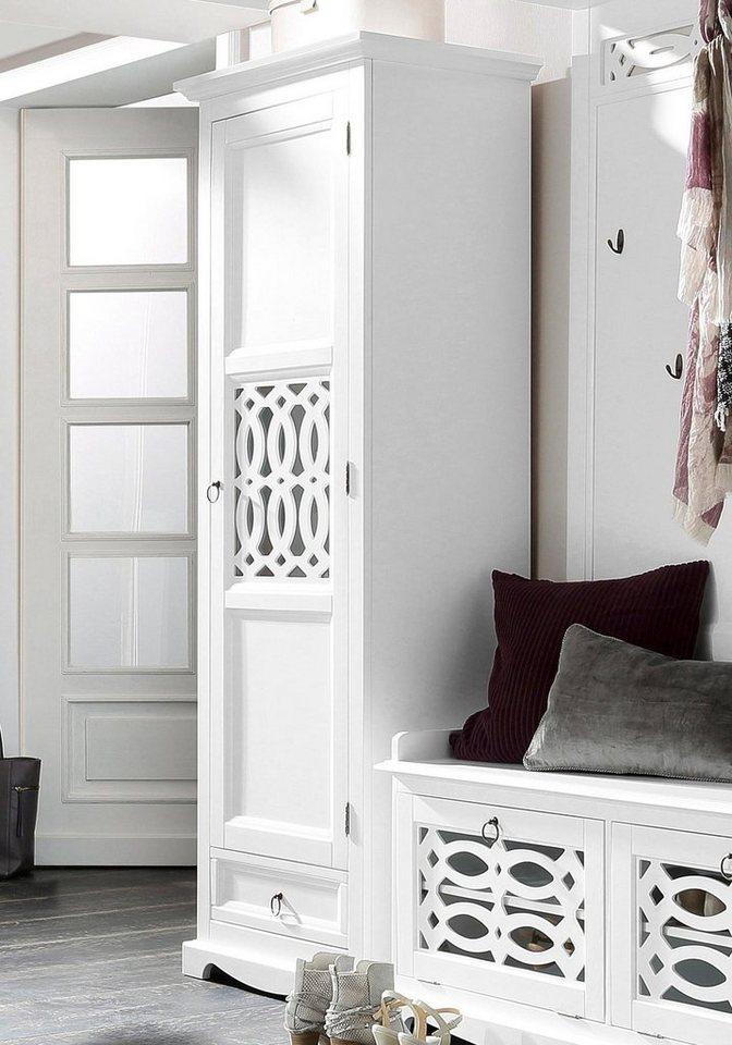 Home affaire Garderobenschrank »Elegant« in weiß