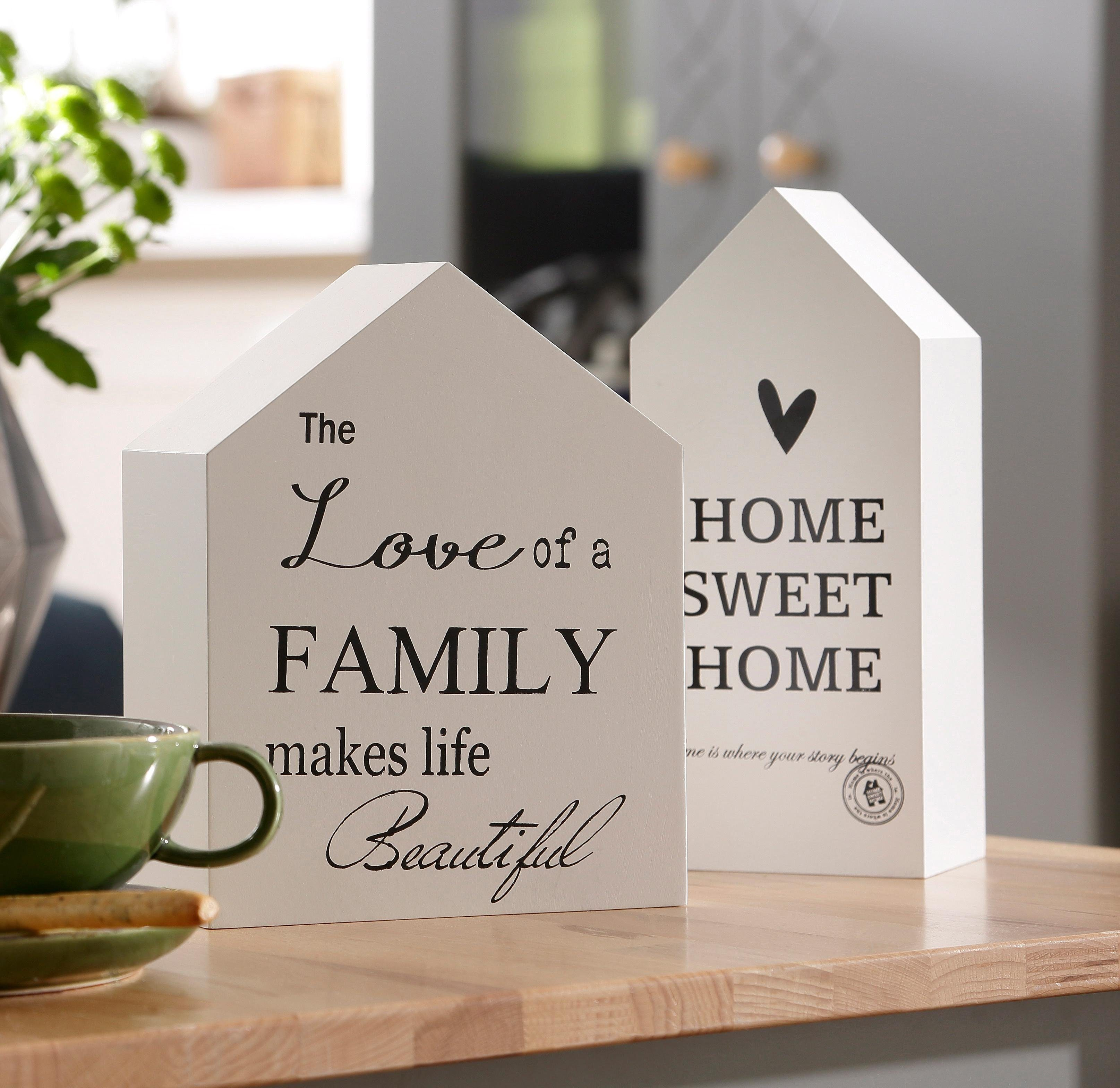Home affaire Dekoobjekte »Häuser« (2-tlg.)
