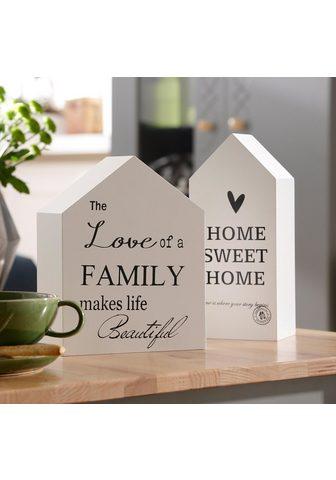 HOME AFFAIRE Dekoracija »Häuser« (Rinkinys 2 vienet...
