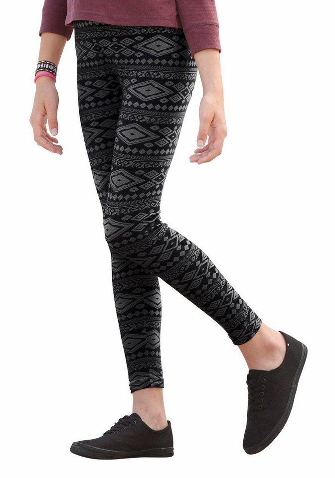 arizona leggings mit alloverdruck online kaufen otto. Black Bedroom Furniture Sets. Home Design Ideas