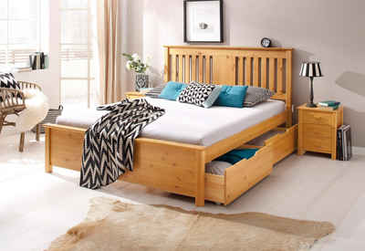 Jugendbett 140x200 buche  Bett 140x200 cm kaufen » Bettgestell & Doppelbett | OTTO