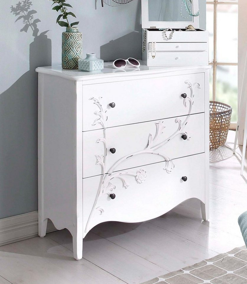 Home affaire Kommode »Onlay«, Breite 85 cm in weiß