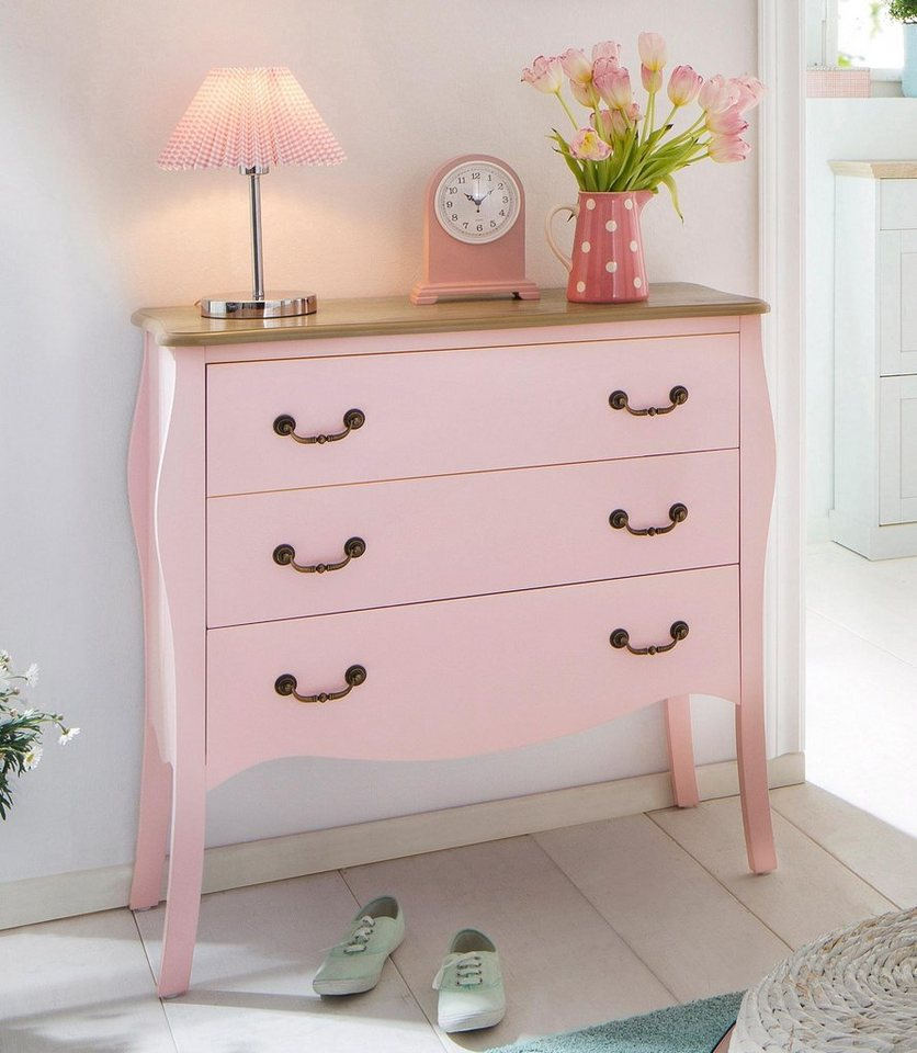 Home affaire Kommode »Celine«, Breite 90 cm in rose