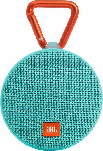 JBL Clip 2 Portable-Lautsprecher (Bluetooth, 3 W, Freisprechfunktion, Integrierter Karabiner, Wasserdicht gemäß Schutzklasse IPX7)