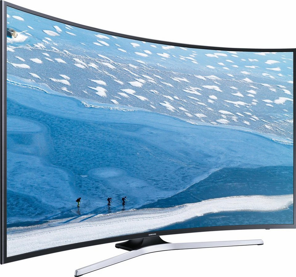 Samsung UE55KU6179UXZG, Curved-LED-Fernseher, 138 cm (55 Zoll), 2160p (4K Ultra HD), Smart-TV in silber-schwarz