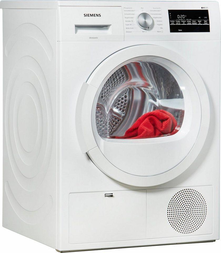 SIEMENS Trockner WT46G400, B, 8 kg in weiß