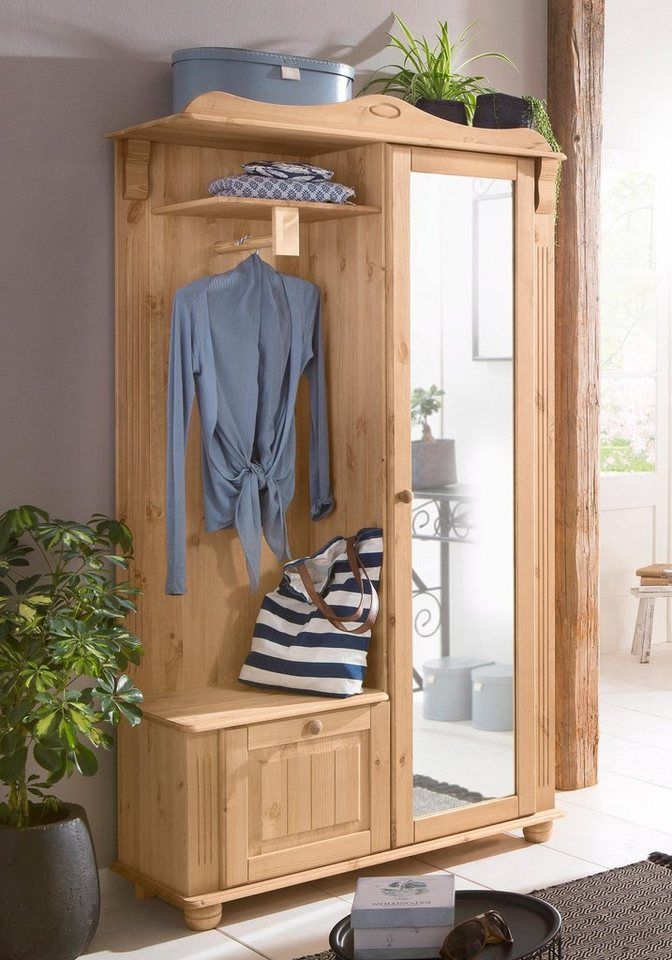 Home affaire kompaktgarderobe adele kaufen otto for Kompaktgarderobe im landhausstil