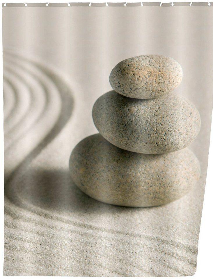 Duschvorhang »Sand and Stone« in sandbeige/grau