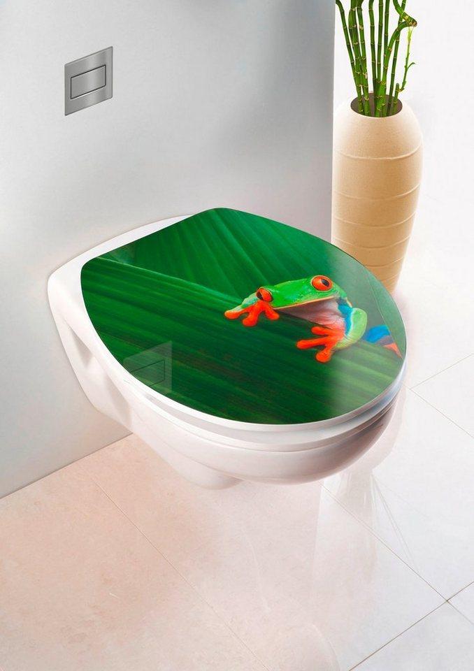 WC-Sitz »Frog«, Mit Absenkautomatik in grün/weiß