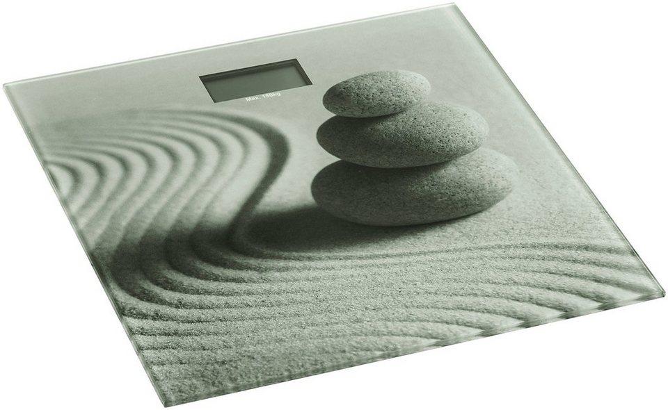 Personenwaage »Sand and Stone« in sandbeige/grau