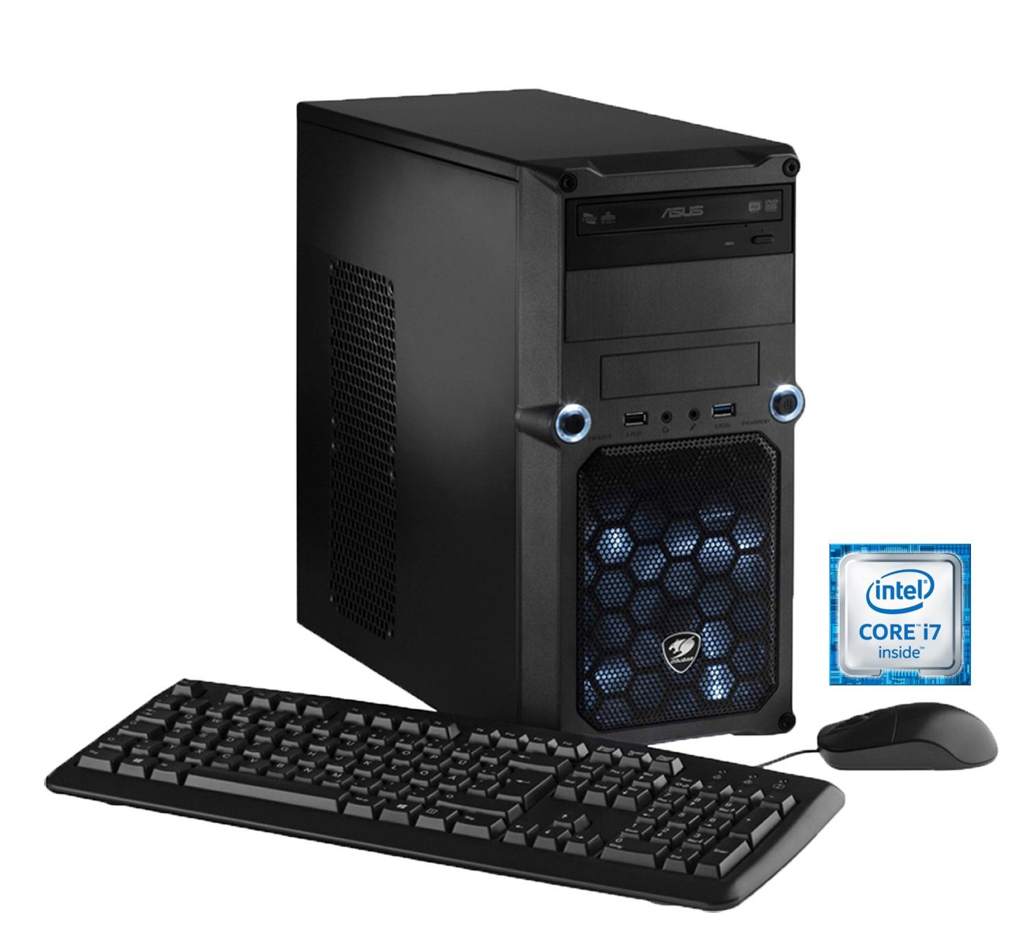 Hyrican PC Intel® i7-6700, 16GB, SSD + HDD, GeForce® GTX 1070 »CyberGamer PC 5241«