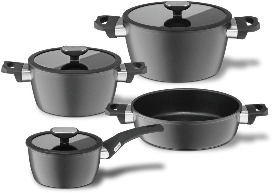 Berndes Kochtopf-Set, Aluminium, Induction, 7-teilig, »BALANCE® INDUCTION«