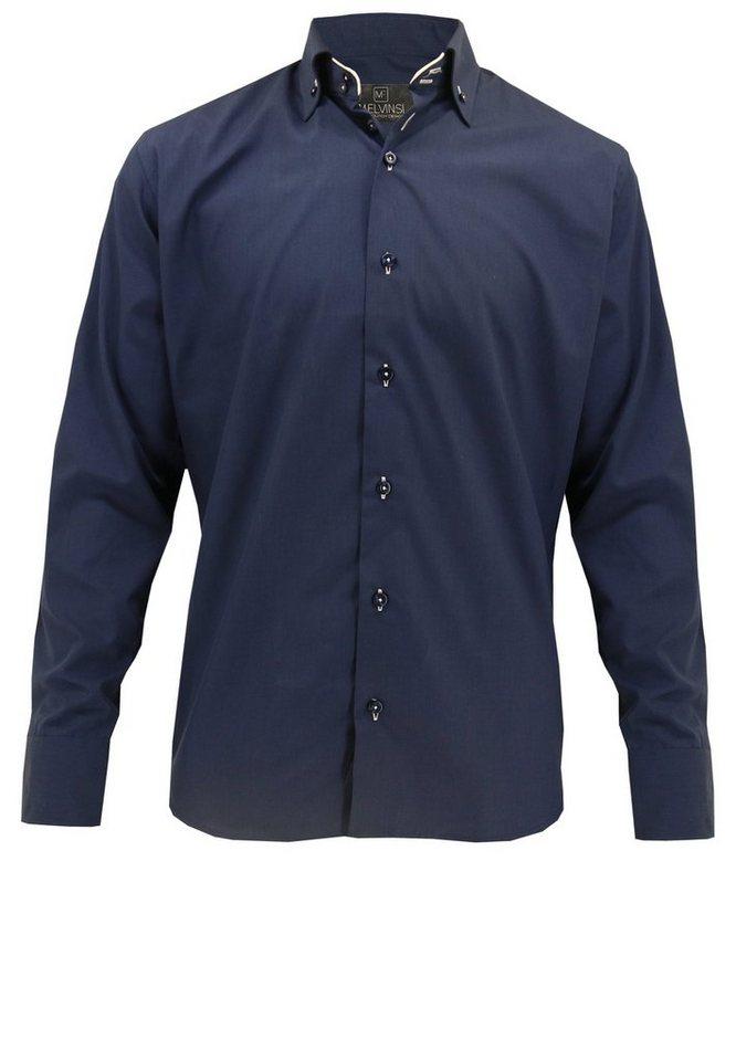 melvinsi fashion Oberhemd in Marineblau