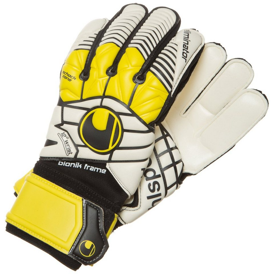 UHLSPORT Eliminator Supersoft Bionik Torwarthandschuh Herren in schwarz / gelb