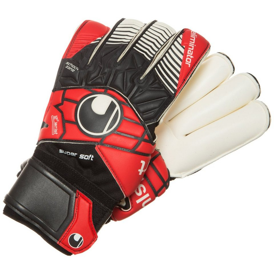 UHLSPORT Eliminator Supersoft RF Torwarthandschuh Herren in schwarz / rot / weiß