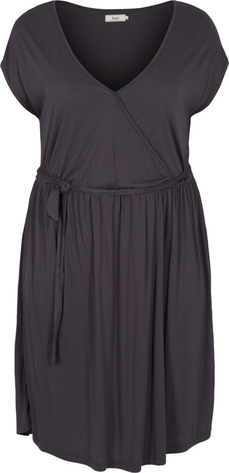 Zizzi Kleid in Asphalt