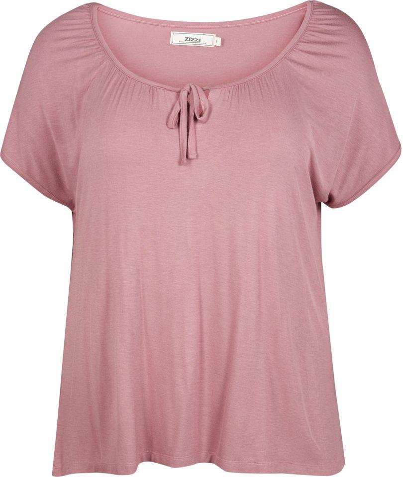Zizzi T-Shirt in Nostalgia Rose
