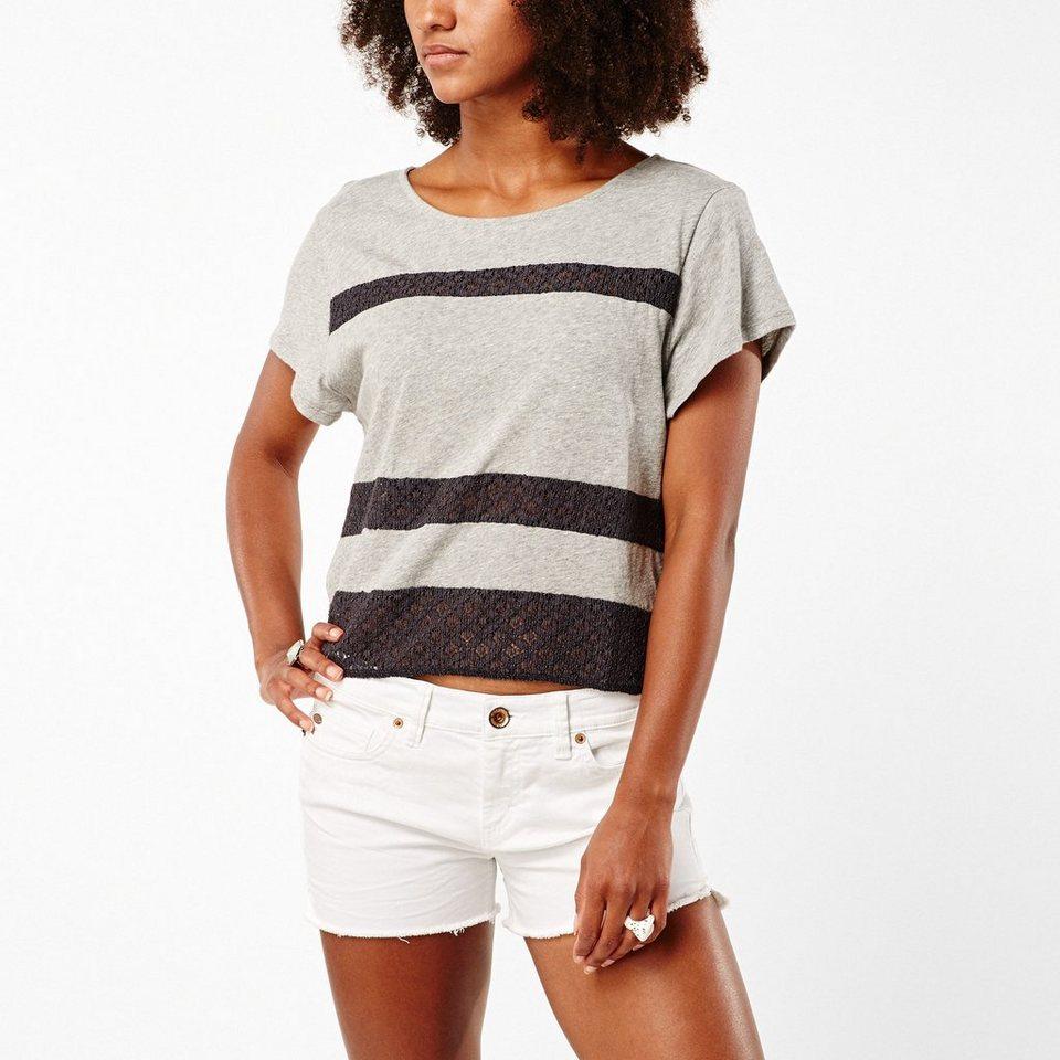 O'Neill T-Shirt kurzärmlig »Lace« in Silbergrau