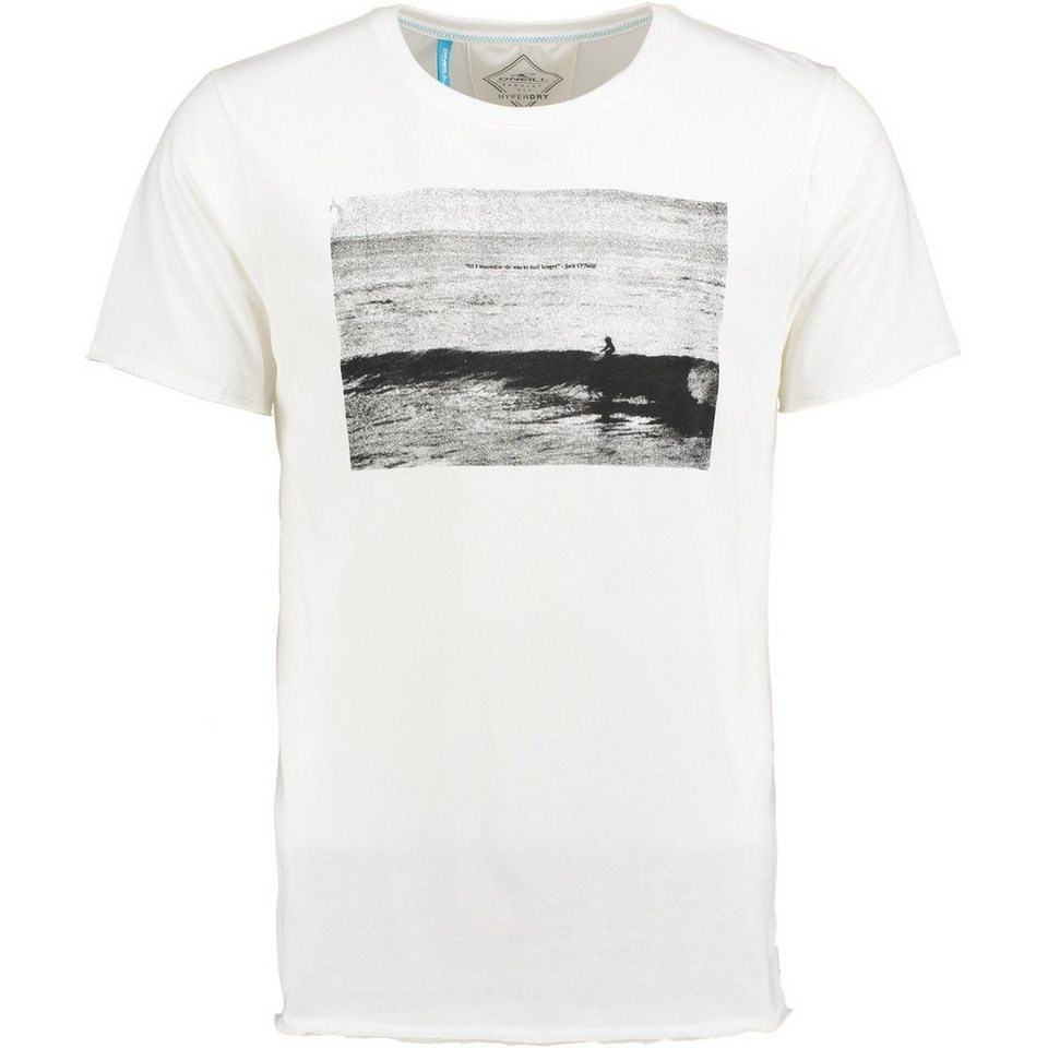 O'Neill T-Shirt kurzärmlig »Tide Over Hyperdry« in Weiß