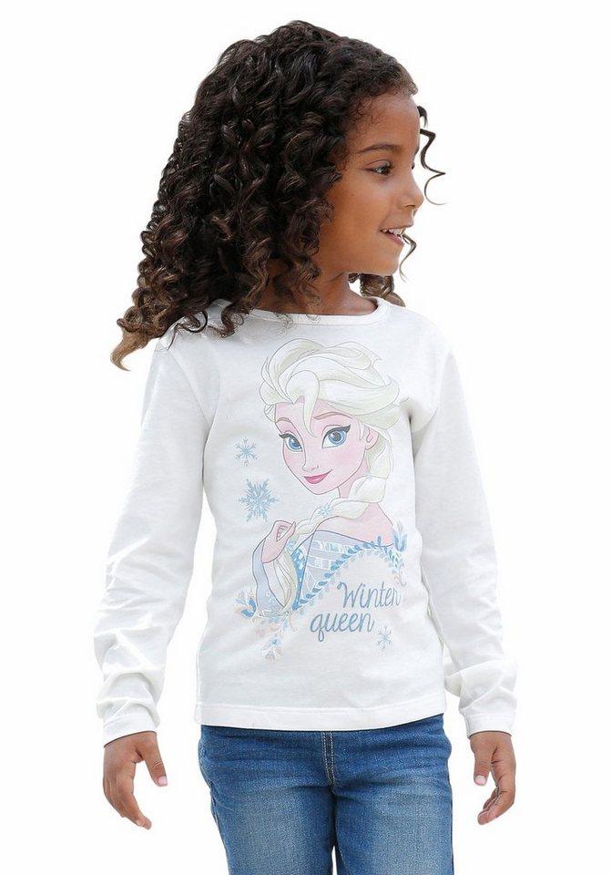Disney Frozen Langarmshirt Die Eiskönigin - Elsa in offwhite-bedruckt