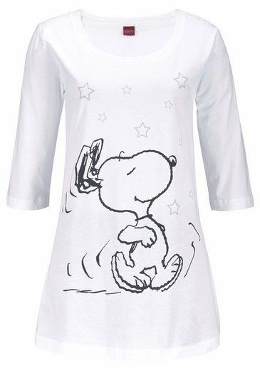Peanuts Pyjama mit Leggins und legerem Shirt mit Snoopyprint
