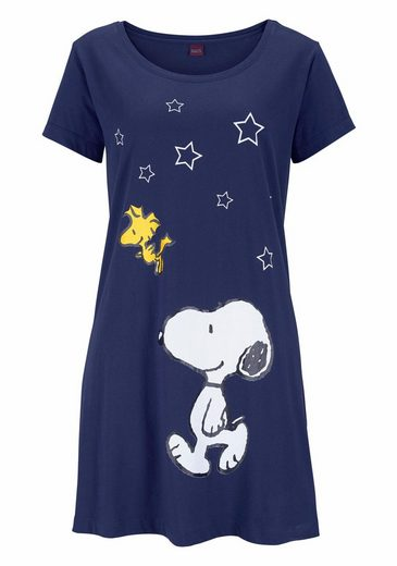 Bigshirt Marine Snoopyprint In Peanuts Süßes Minilänge Mit OuTkXZwPli