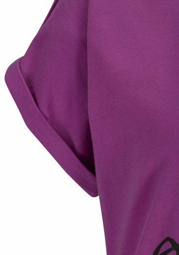 Buffalo Sportliches Sleepshirt mit zweifarbigem Rippeneinsatz