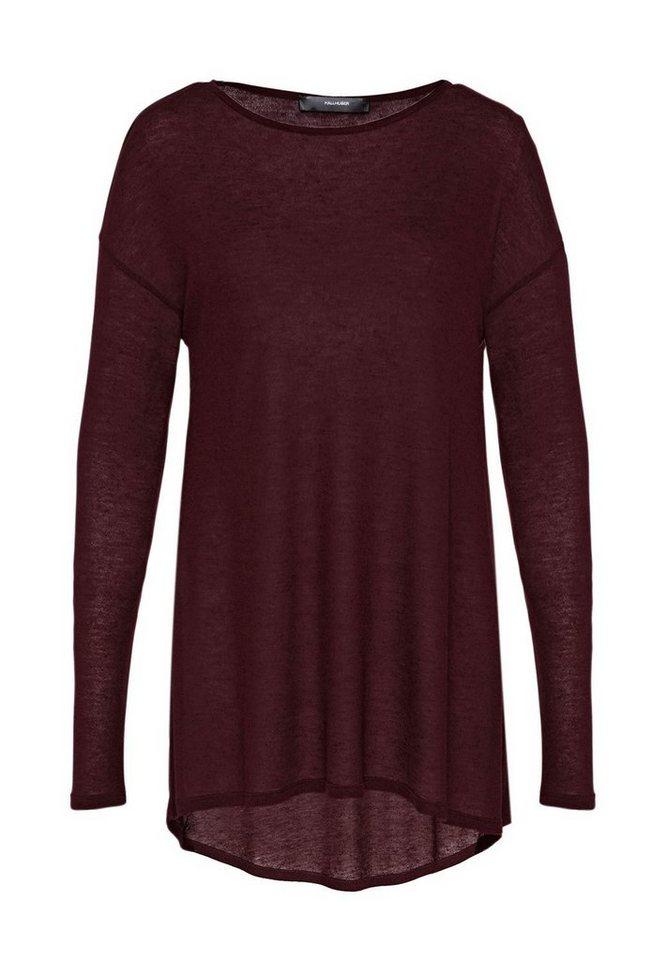 HALLHUBER Longshirt im Oversize-Cut in marsala