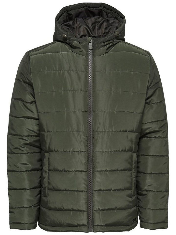 ONLY & SONS Gefütterte Jacke in Forest Night