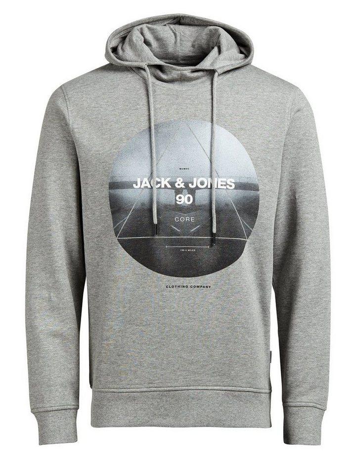 Jack & Jones High-Neck- Hoodie in Light Grey Melange