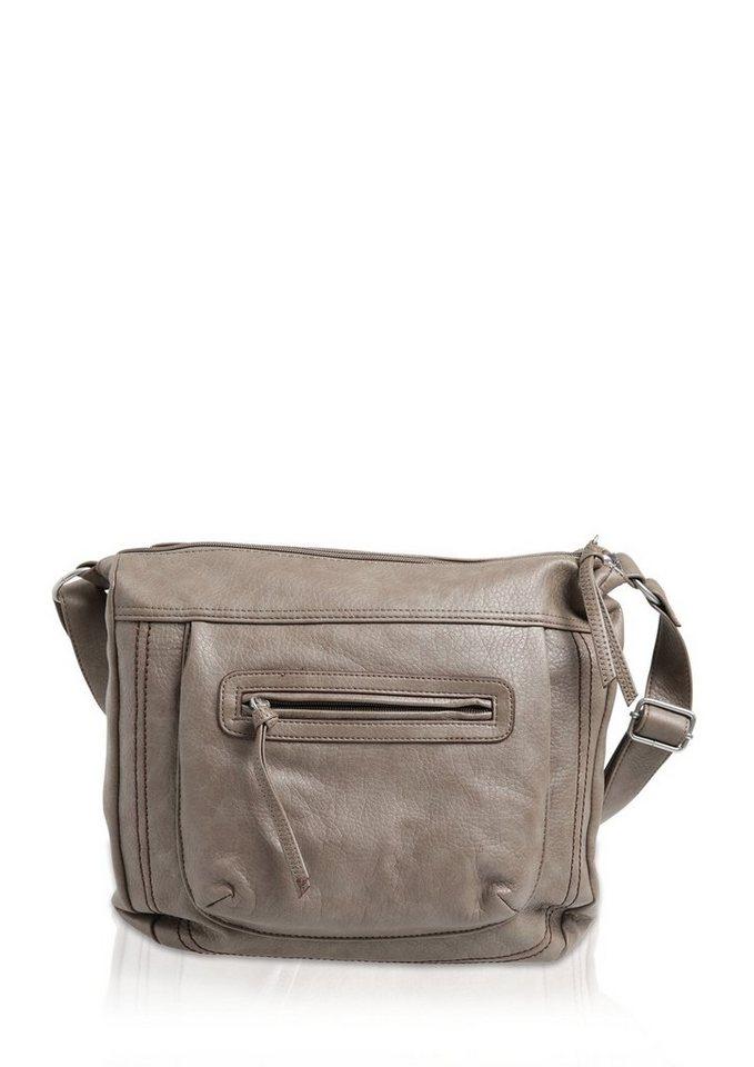 s.Oliver Shoulder Bag mit dekorativer Steppung in chinchilla