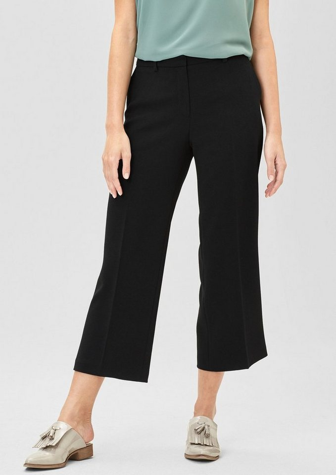 s.Oliver BLACK LABEL Crêpe-Culotte im Business-Look in winter black