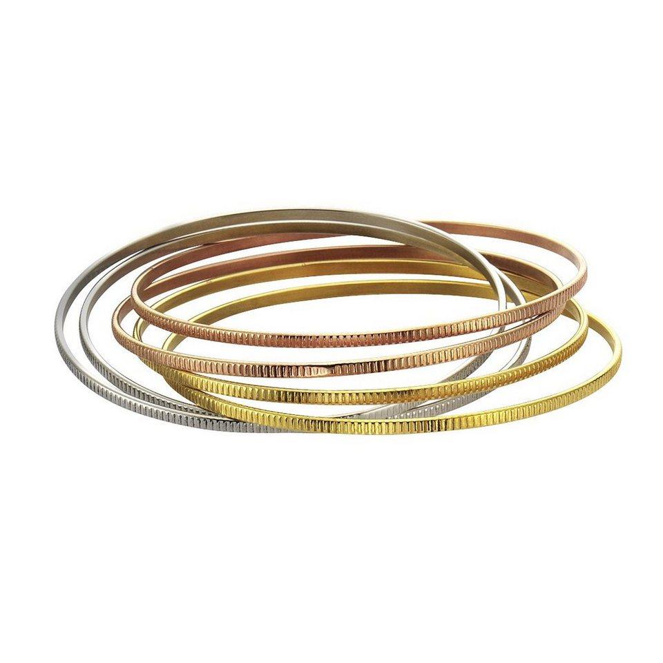 Zeeme Armreif »Edelstahl dreifarbig 67mm Durchmesser« in mehrfarbig