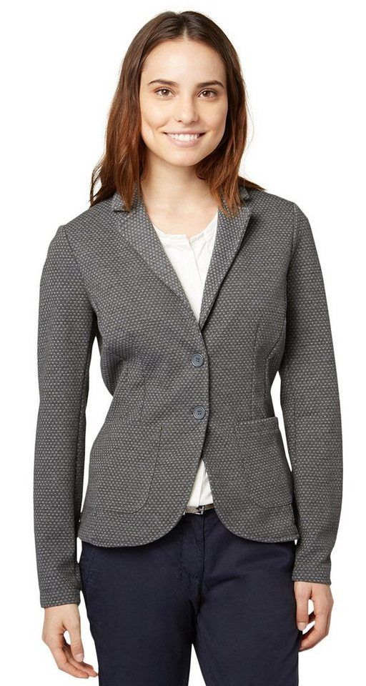 TOM TAILOR Blazer »femininer Blazer mit Struktur« in dark charcoal grey