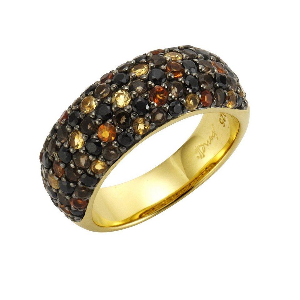 """Jamelli Ring »925/- Sterling Silber vergoldet """"Multi""""« in bunt"""