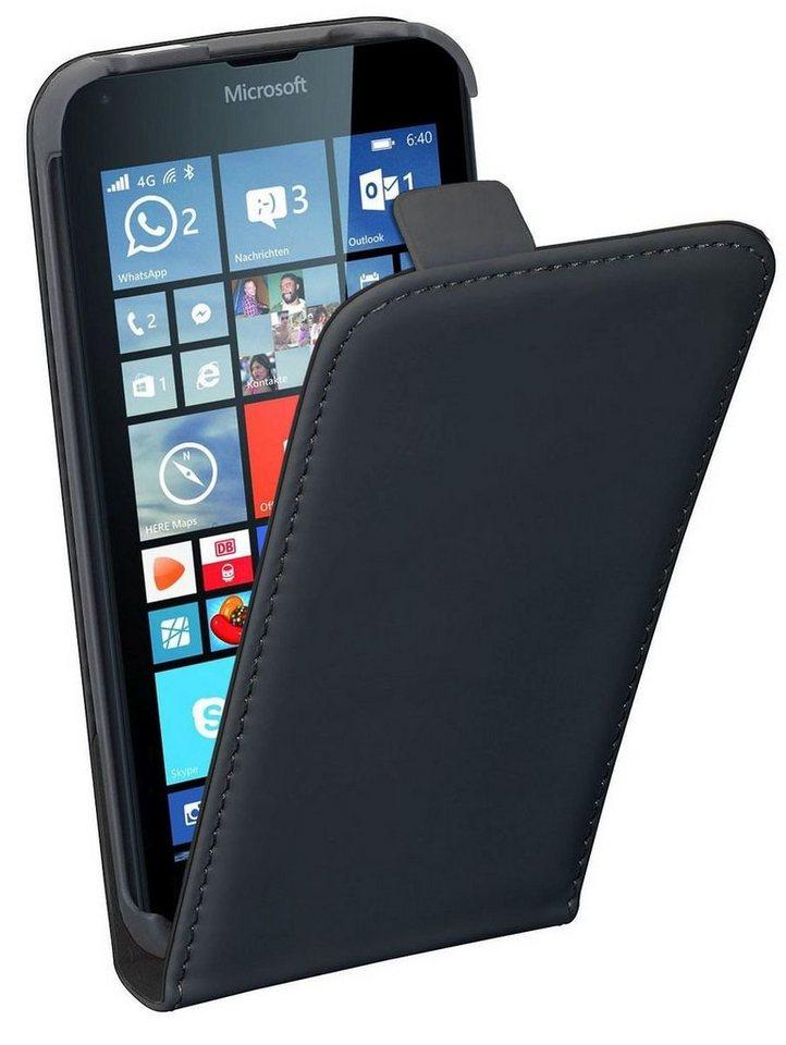 PEDEA Handytasche »Flip Cover Classic für Nokia Lumia 640« in Schwarz