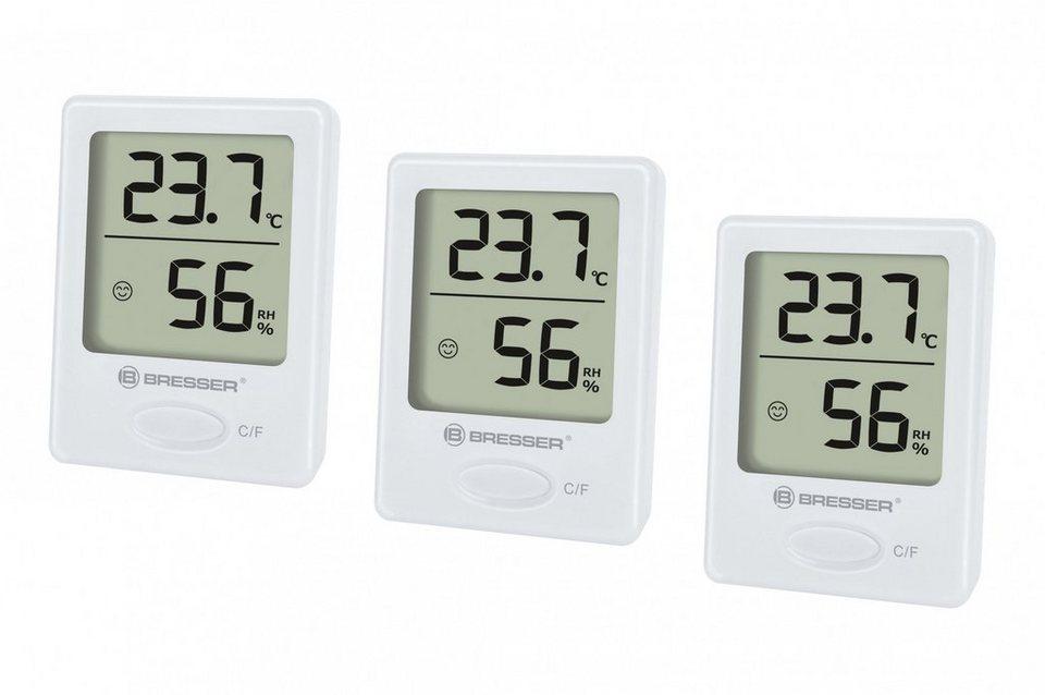 Bresser Thermometer »BRESSER Temeo Hygro Indikator 3er Set« in weiss