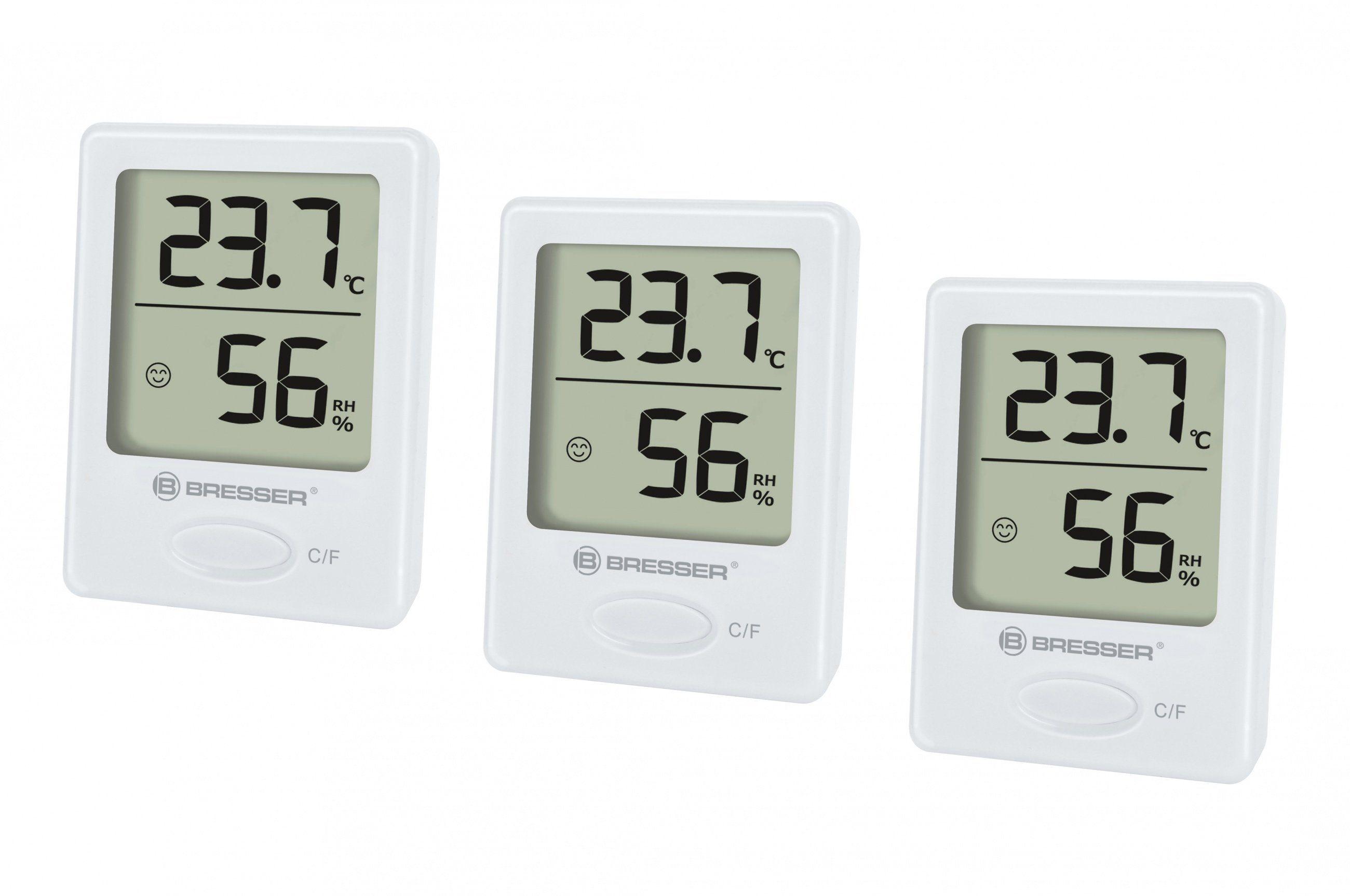 BRESSER Thermometer »BRESSER Temeo Hygro Indikator 3er Set«