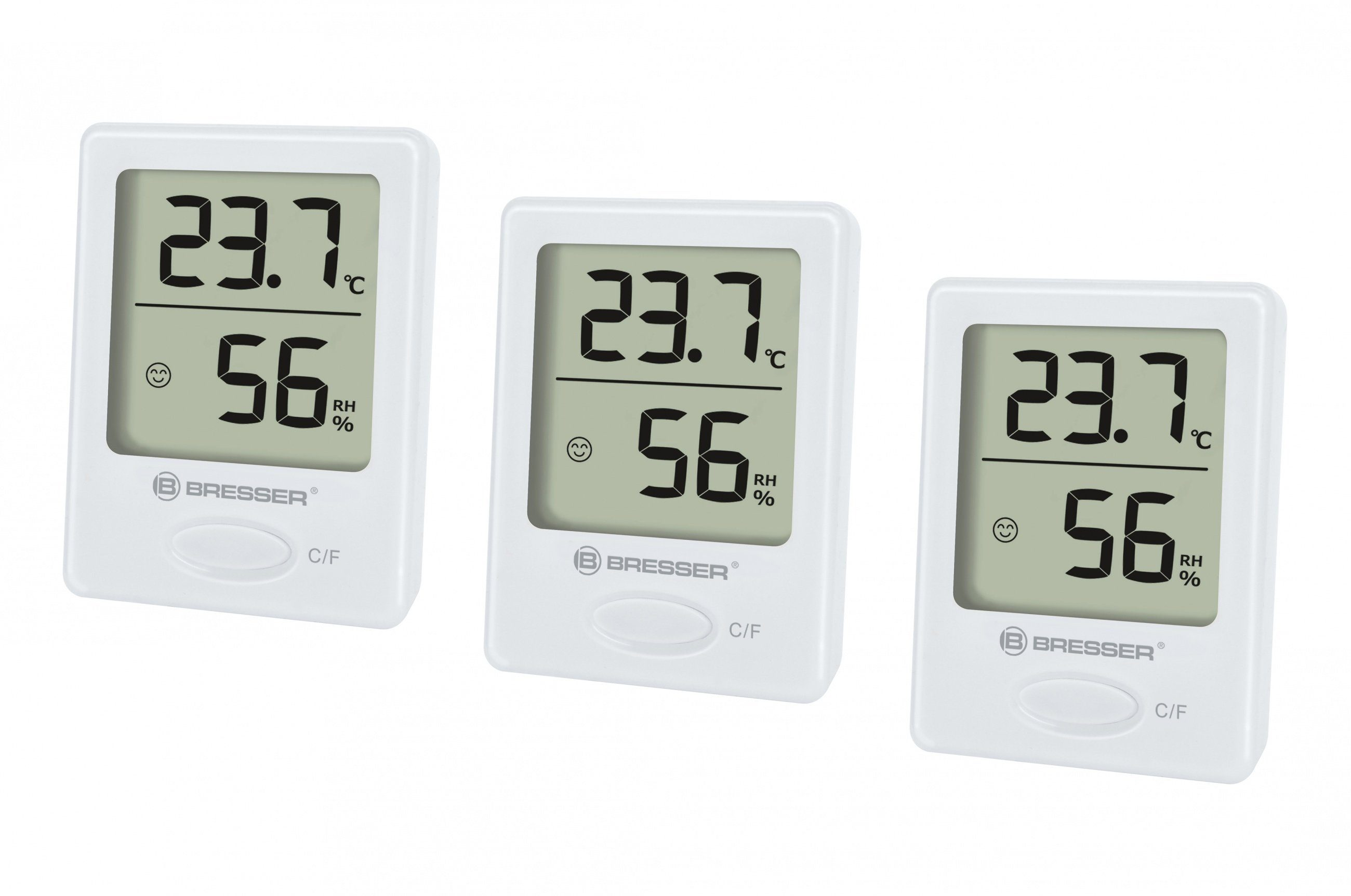 BRESSER Thermometer »BRESSER Temeo Hygro Indikator 3er Set Thermo-/Hygr«