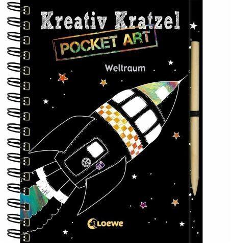 Gebundenes Buch »Kreativ-Kratzel Pocket Art: Weltraum«