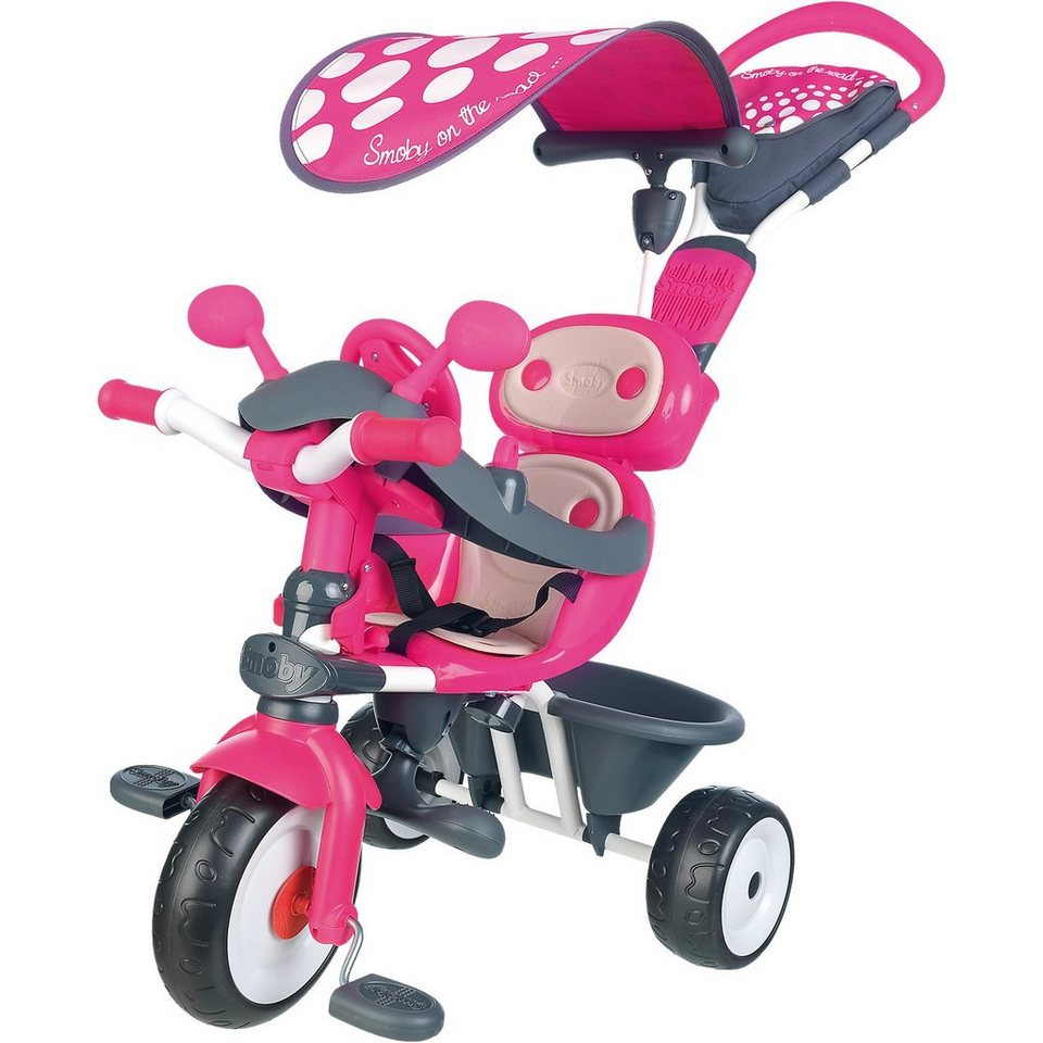 Smoby Dreirad Baby Driver Komfort, rosa in rosa