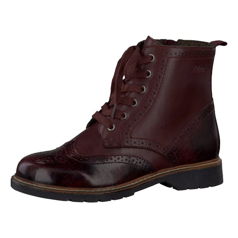 s.Oliver Ross Stiefeletten in bordeaux