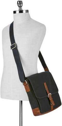 Fossil Umhängetasche DAVIS CITY BAG, Crossbody Bag mit gepolstertem Tabletfach