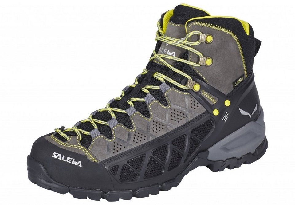 Salewa Kletterschuh »Alp Flow Mid GTX Hiking Shoes Men« in grau