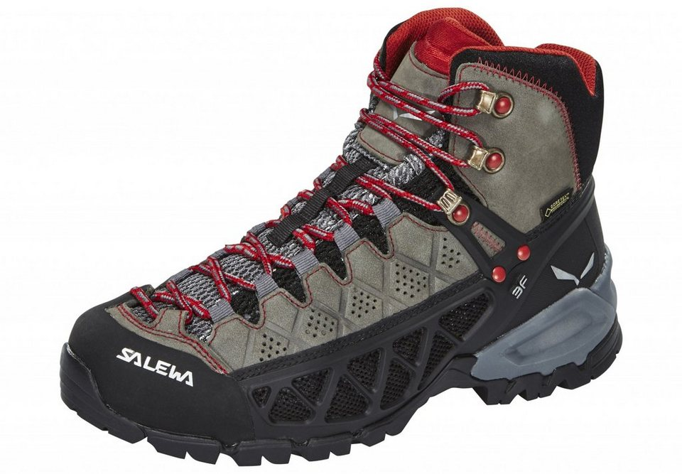 Salewa Kletterschuh »Alp Flow Mid GTX Hiking Shoes Women« in grau
