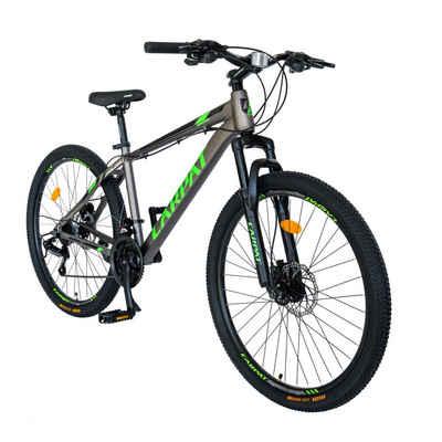 CARPAT Mountainbike »Mountainbike Hardtail 26 Zoll Fahrrad MTB«, 21 Gang Shimano Tourney Schaltwerk, Kettenschaltung, (Trekkingrad Fitnessbike), mit Aluminiumrahmen, Hydraulisches Scheibenbremssystem