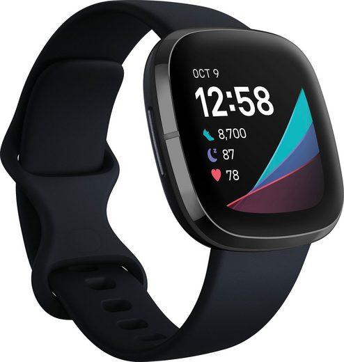 fitbit Sense Smartwatch (4,32 cm/1,7 Zoll, FitbitOS5, inkl. 6 Monate Fitbit Premium)