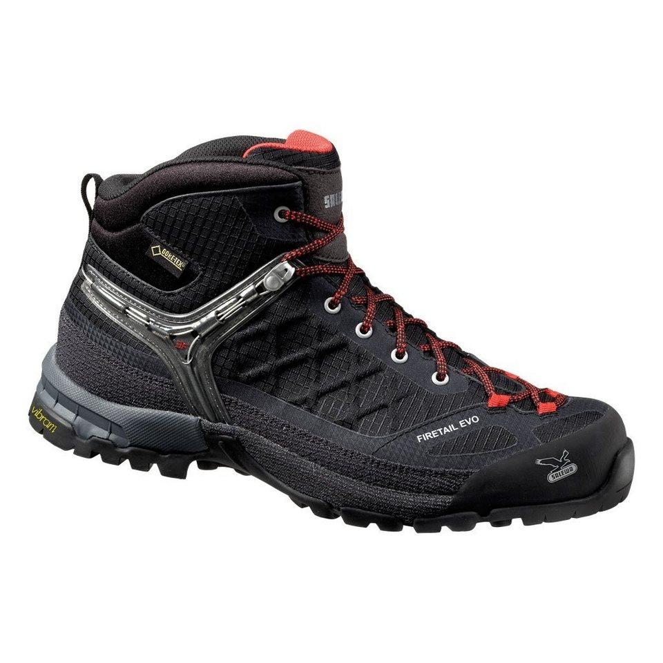 Salewa Kletterschuh »Firetail EVO Mid GTX Approach Shoes Men« in schwarz