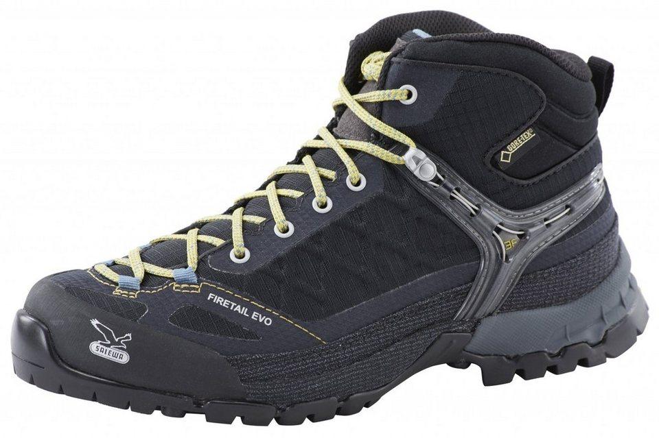 Salewa Kletterschuh »Firetail EVO Mid GTX Approach Shoes Women« in schwarz