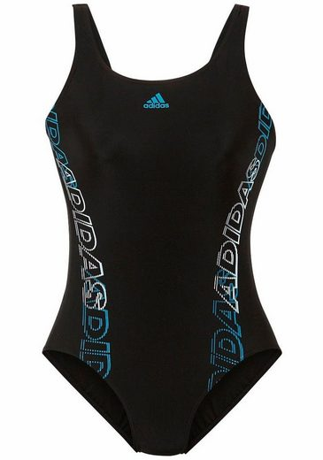 Adidas Performance Swimsuit With Side Logo-writing Trains